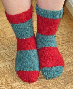 gestreepte sokken in normale mensen maat